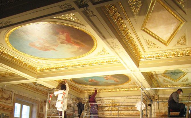 Restauration de dorure Grand Hotel de Bordeaux