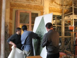 Restauration décors peints Grand Hotel de Bordeaux