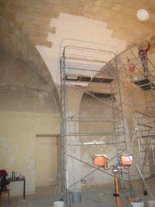 Restauration chaux Hôtel des Impôts La Réole